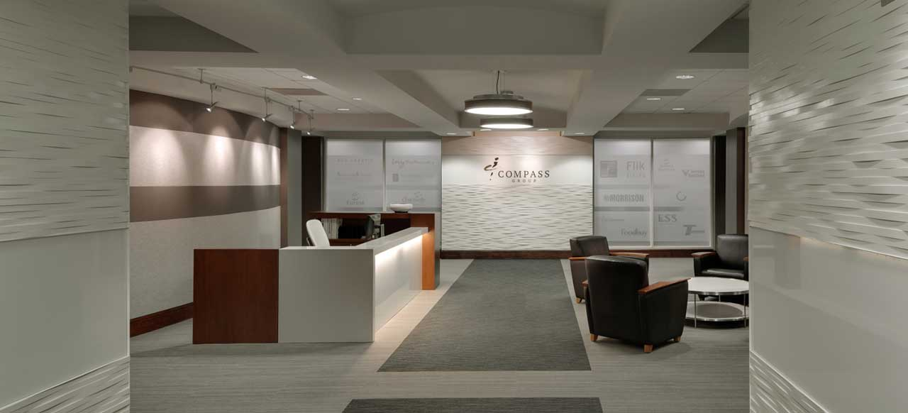 Compass Group Global Headquarters Charlotte, NC Reception Welcome Desk