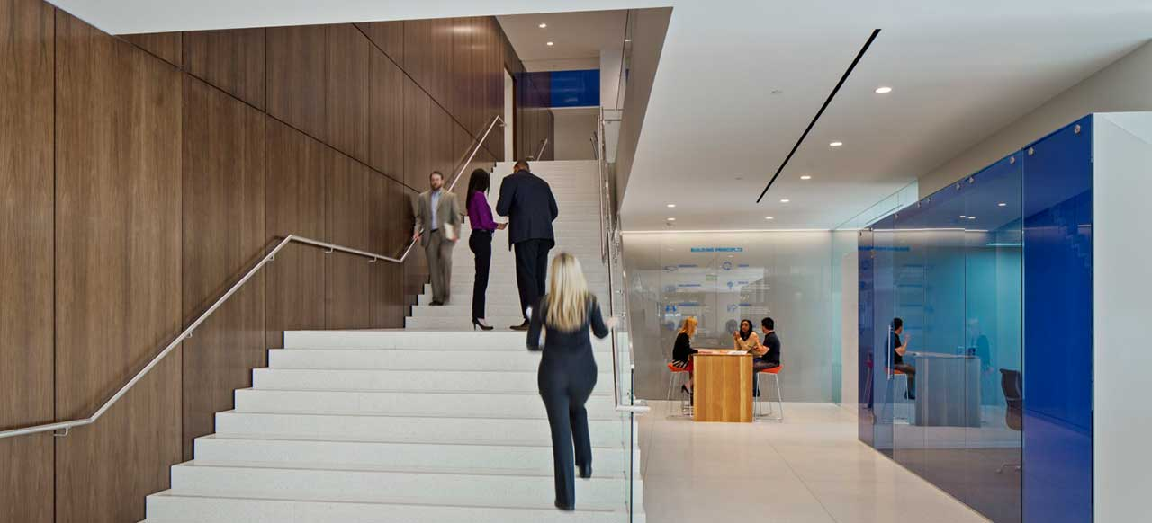 MetLife Corporate Retail Headquarters Charlotte, NC Stairway Second Floor