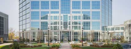 MetLife Corporate Retail Headquarters Charlotte, NC Exterior Courtyard
