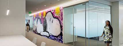 MetLife Corporate Retail Headquarters Charlotte, NC Interior Wall Snoopy