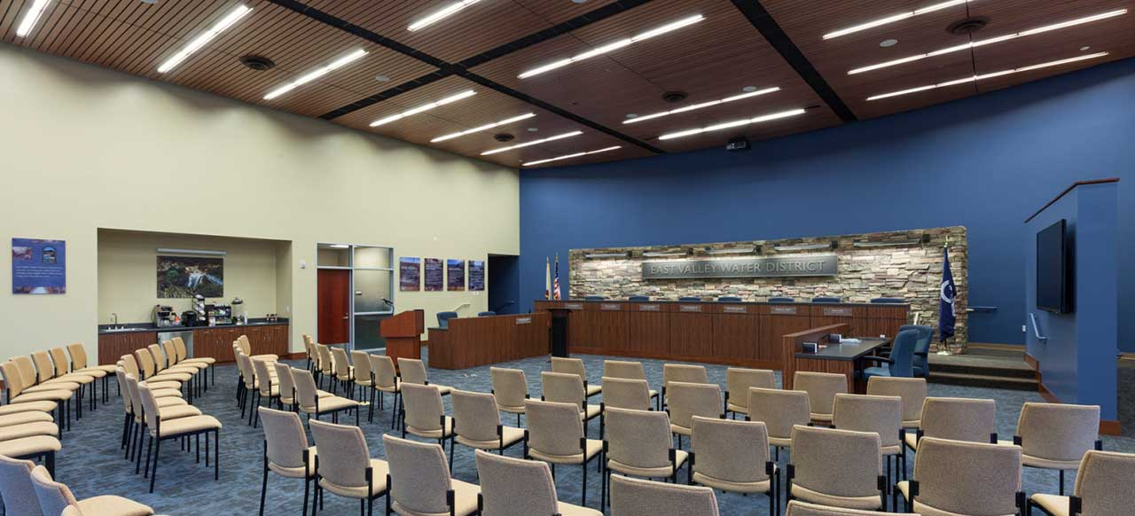 East Valley Water District Headquarters Facility Highland, CA Interior Meeting Room Conference